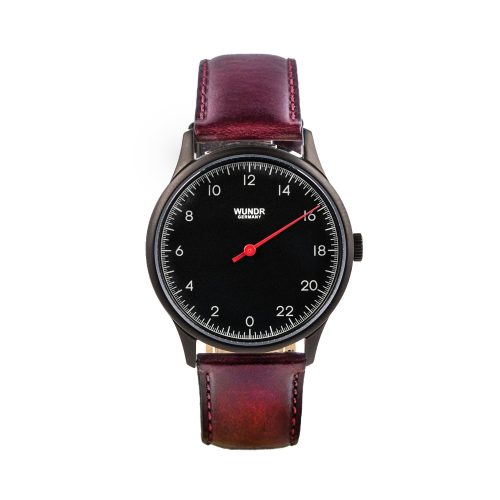 Wundrwatch Classic Black - Burgundy Calf
