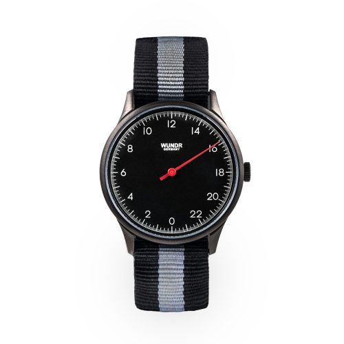 Wundrwatch Classic Black - Nato Black Grey