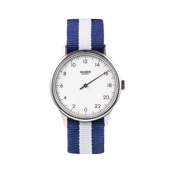 Wundrwatch Classic Silver - Nato Blue White