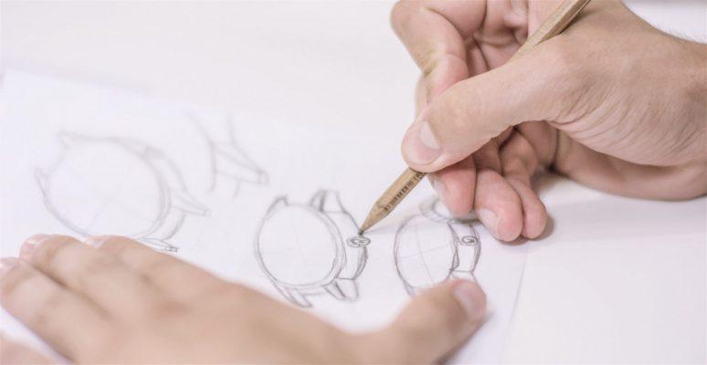 Wundrwatch-Einzeigeruhr-Design-Skizze-Konzeption