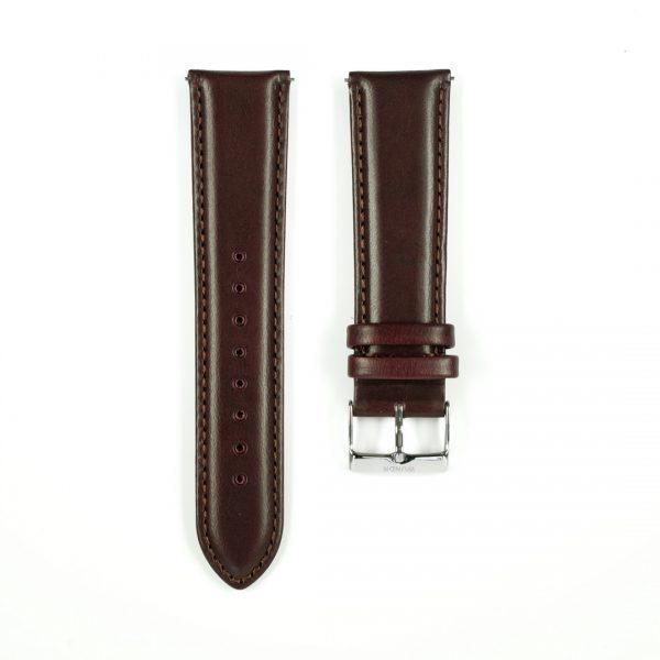 Wundrwatch Straps - Burgundy Calf - Silber
