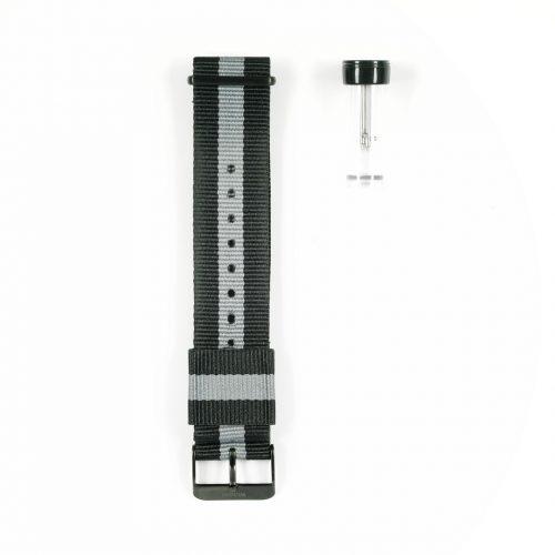 Wundrwatch Straps - Nato Blue White - Schwarz 2