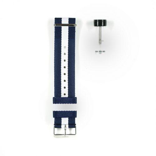 Wundrwatch Straps - Nato Blue White - Silber 3